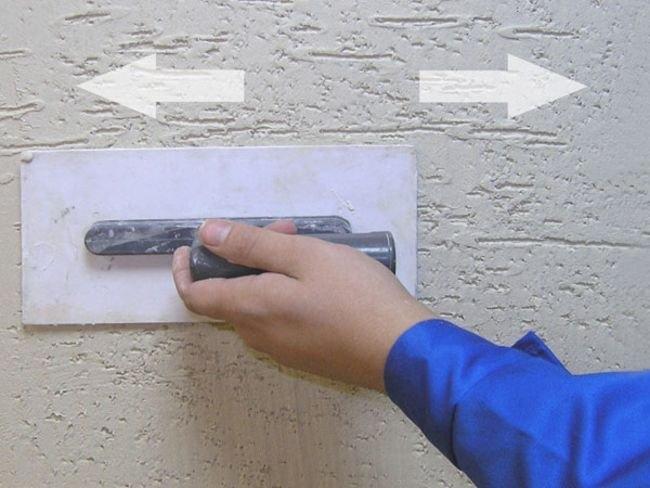 Видео штукатурка короед своими руками