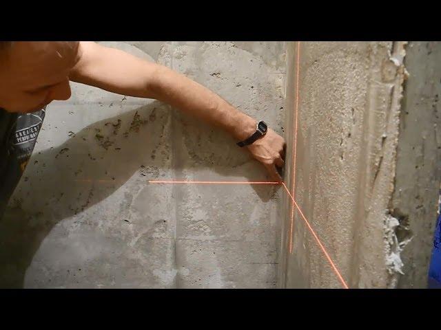 Как сделать разметку для выравнивания стен