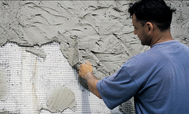 Штукатурка стен с сеткой