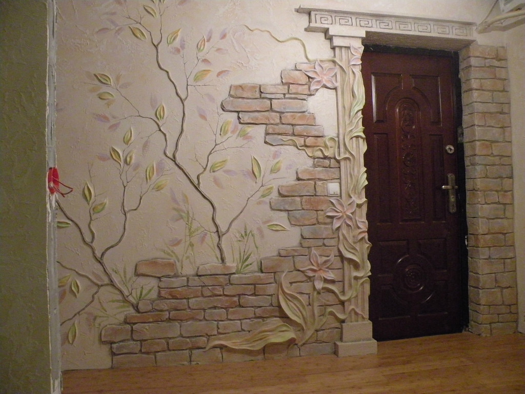 Декор на стене ремонт
