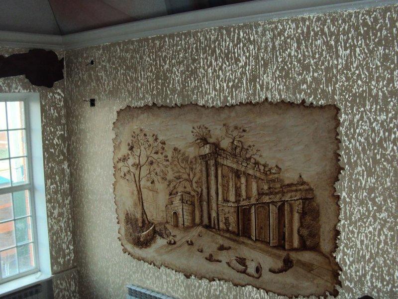 Декоративное панно на стене мастер класс